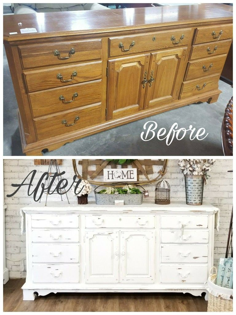 Before And After Painted Furniture Thomasville Buffet Trending