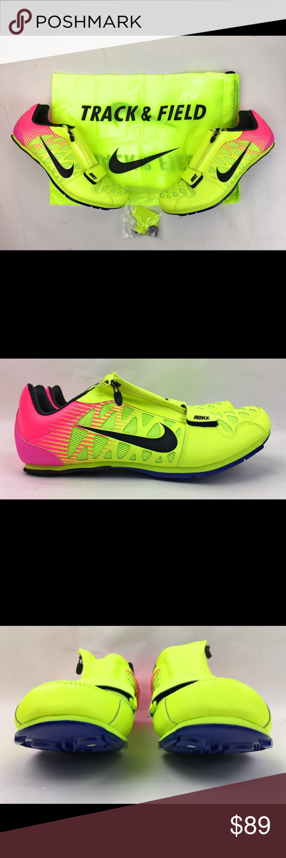 separation shoes ce93e 8c00a Nike Zoom LJ 4 Long Jump Track Shoes Volt Sz 10.5 Nike Zoom LJ 4 Long Jump  Track Shoes Spikes Sz 10.5 Volt Pink Black 415339-999 New without box Comes  with ...
