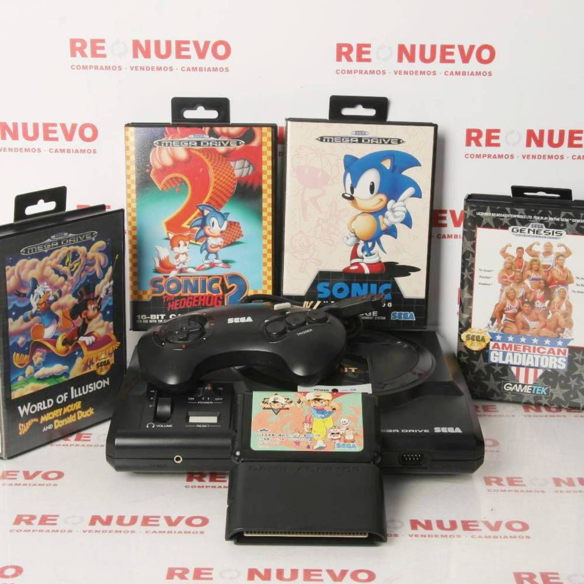 Consola Sega Megadrive 5 Juegos En Maletin De Segunda Mano E278330