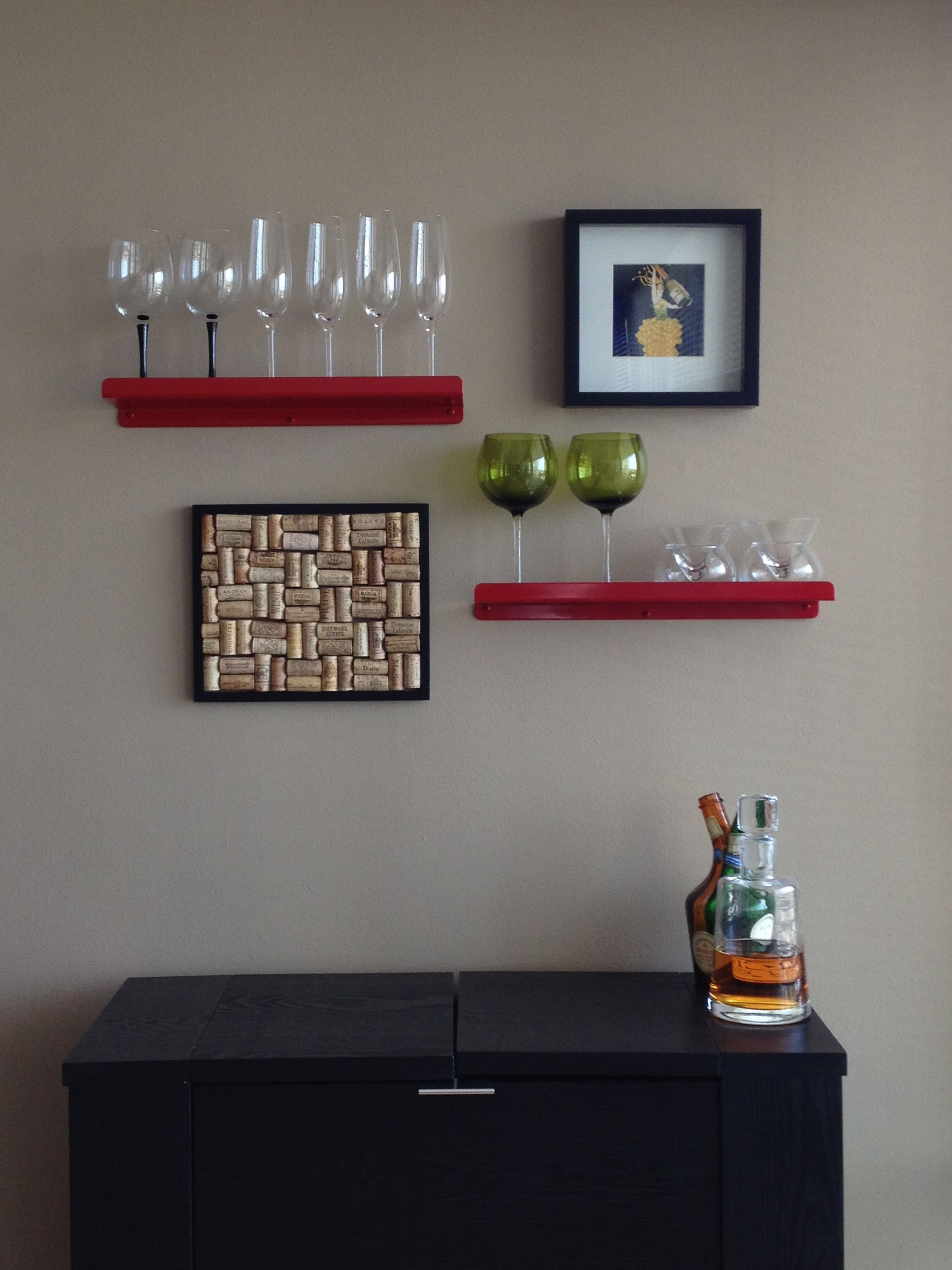 Bar Decor  Wall Shelves