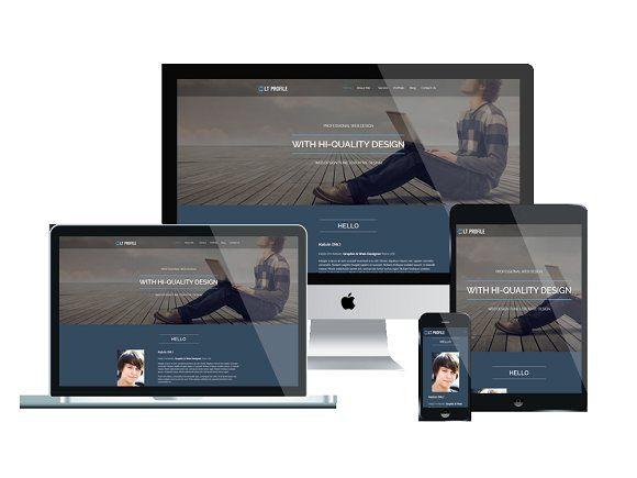 LT Profile Onepage Wordpress Theme by LTheme on @creativemarket - free profile templates