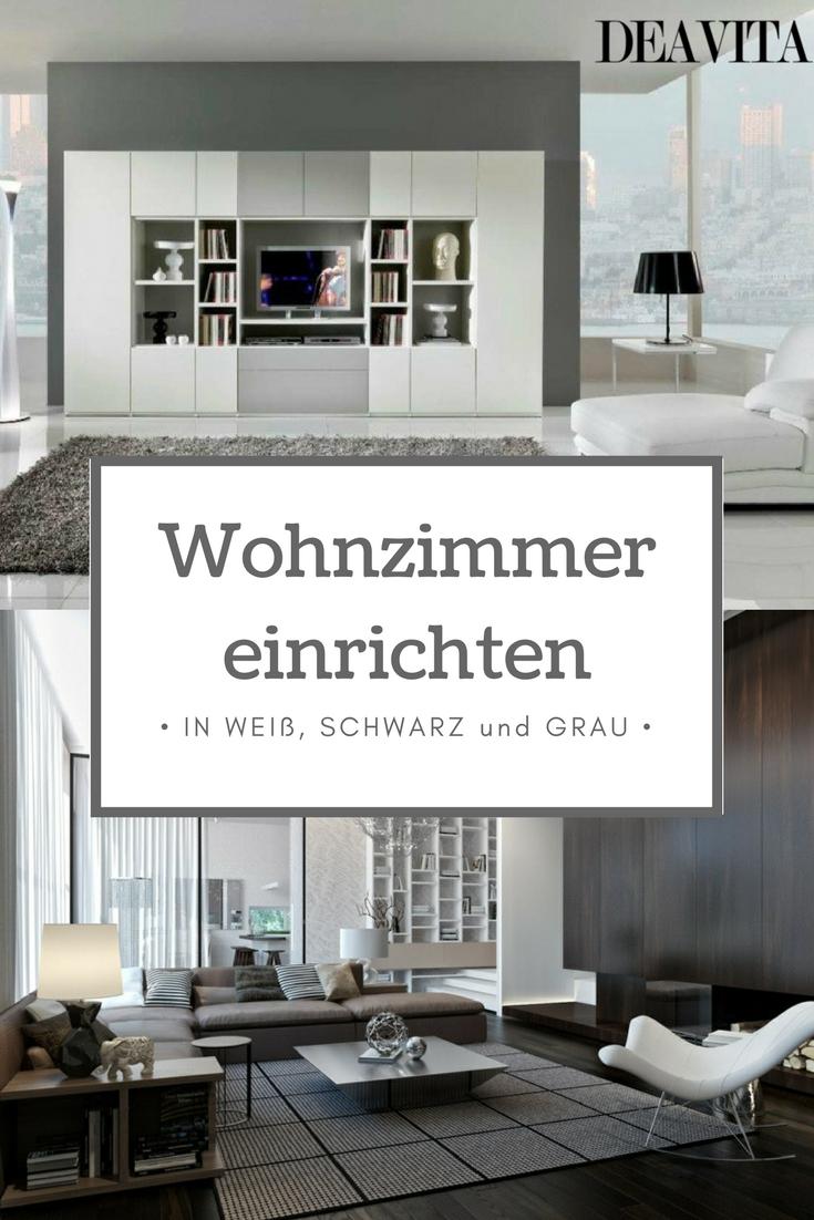Wohnzimmer Einrichten In Neutralen Farben Bietet Eine Vielzahl Von  Kombinationsmöglichkeiten. Die Edle Farbigkeit Mit Viel Weiß, Grau Und  Schwarz Sorgt Für