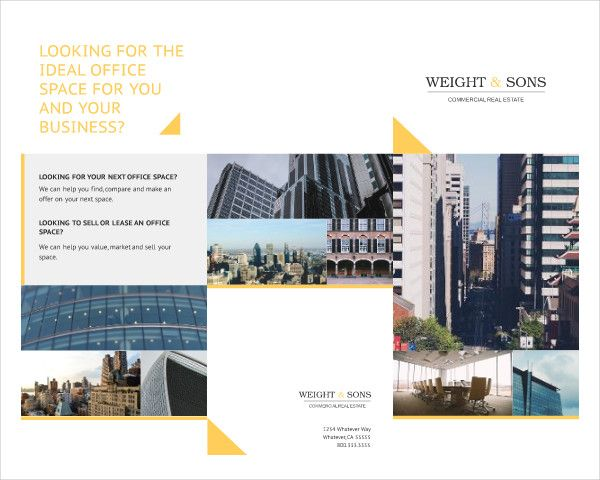 Commercial Real Estate Free Brochure Real Estate Marketing - House for sale brochure templates free