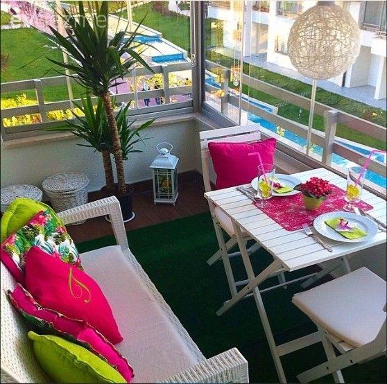1 balkondan renk ve aksesuar değişimiyle 20 farklı balkon #smallbalconyfurniture
