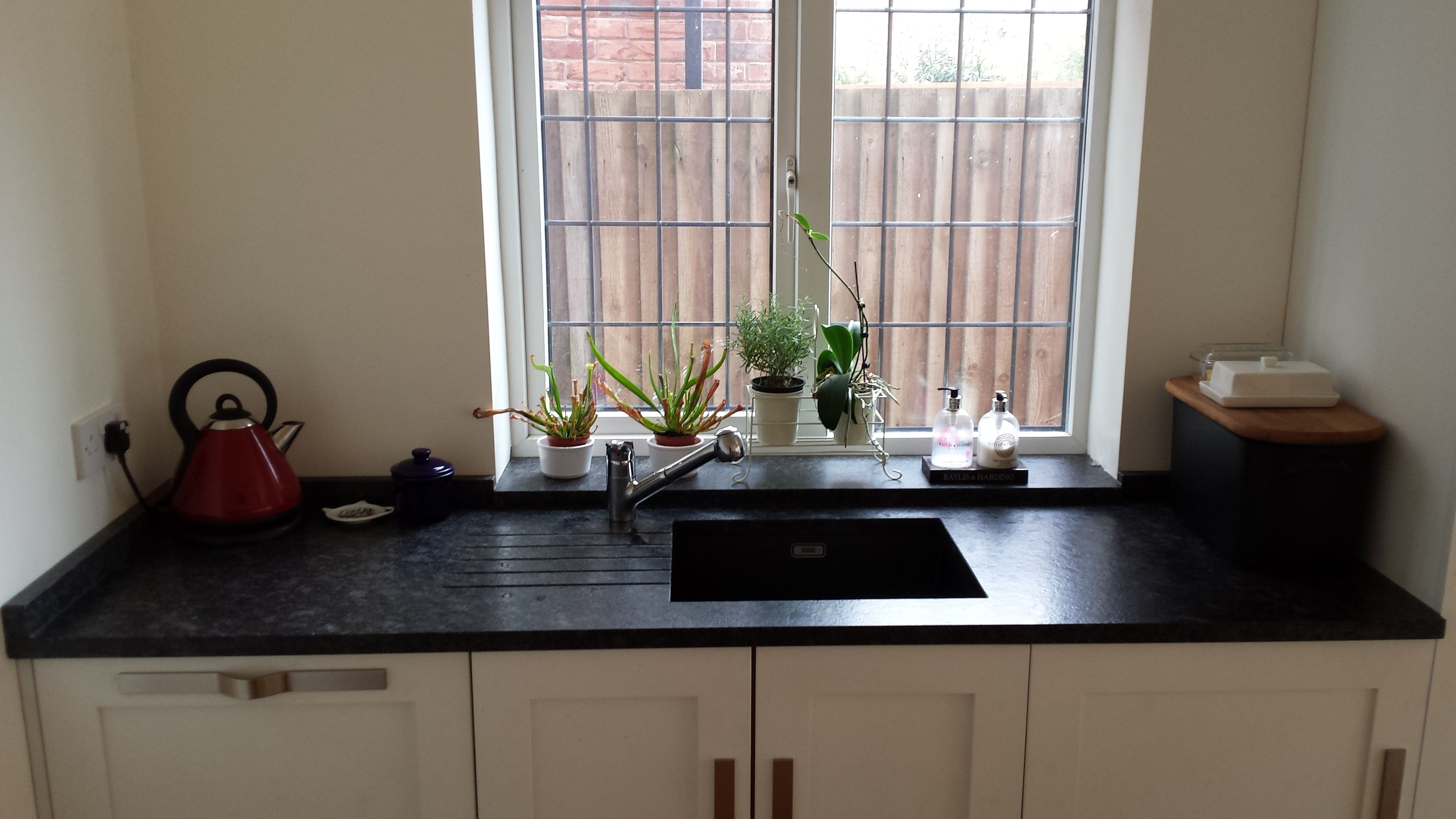 Our customer was delighted with this Steel Grey worktop