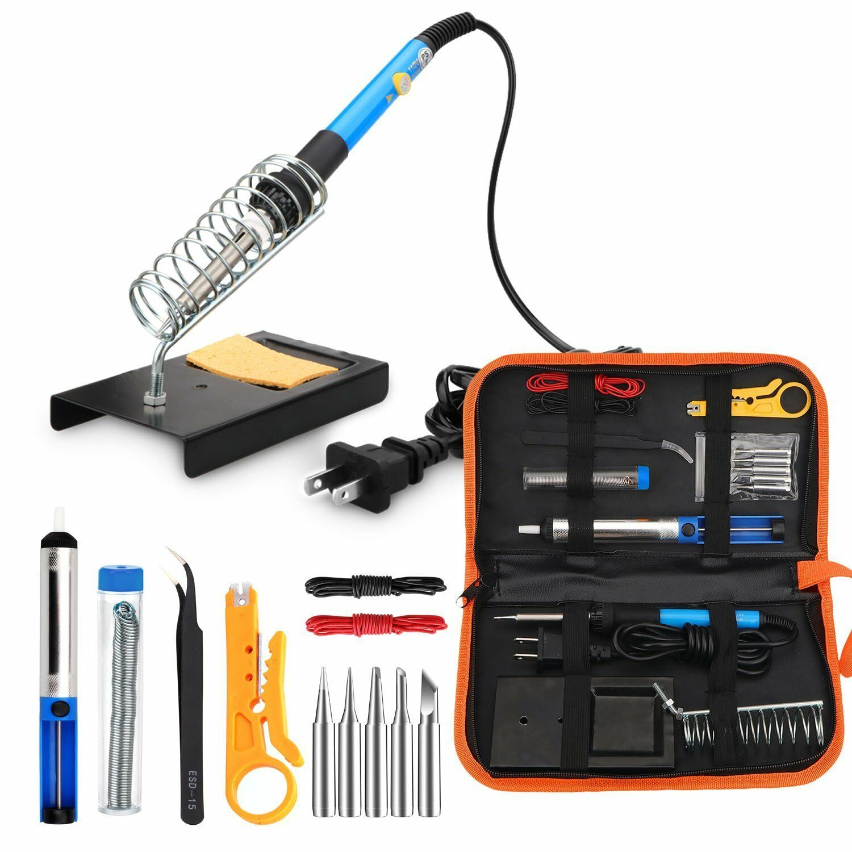 Electric soldering iron tool kit 110v 60w adjustable