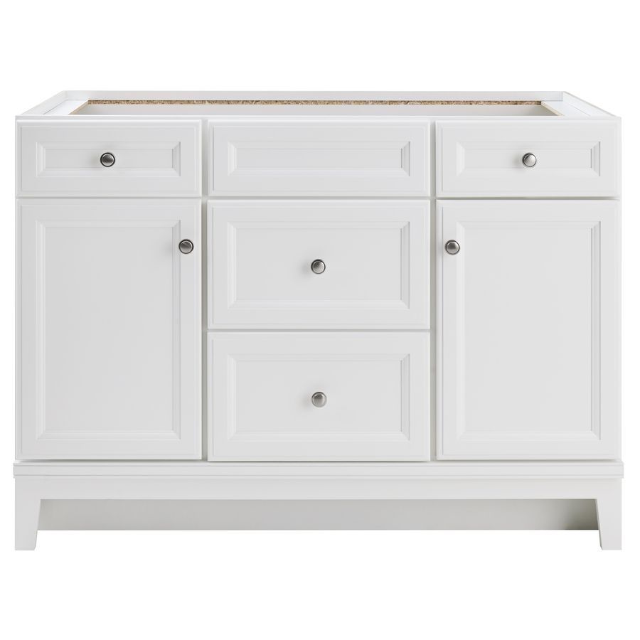 Diamond FreshFit Calhoun White Bathroom Vanity Common In X - Lowes 48 bathroom vanity