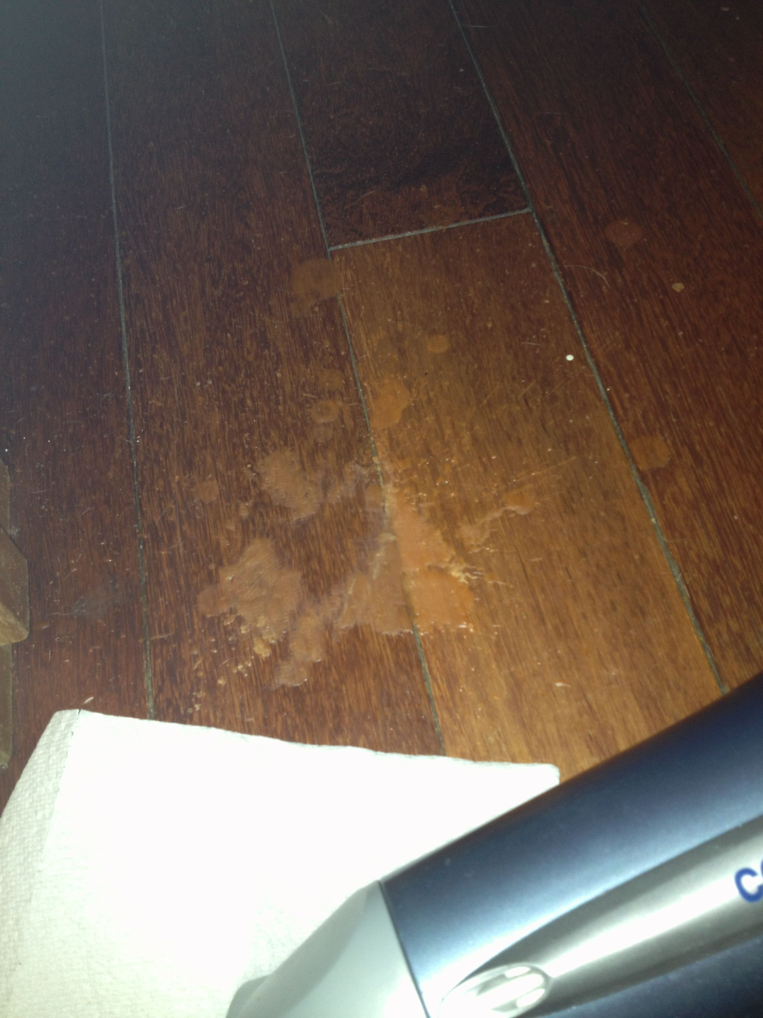 Candle Wax Off Of Hardwood Floors Hair Dryer Napkin