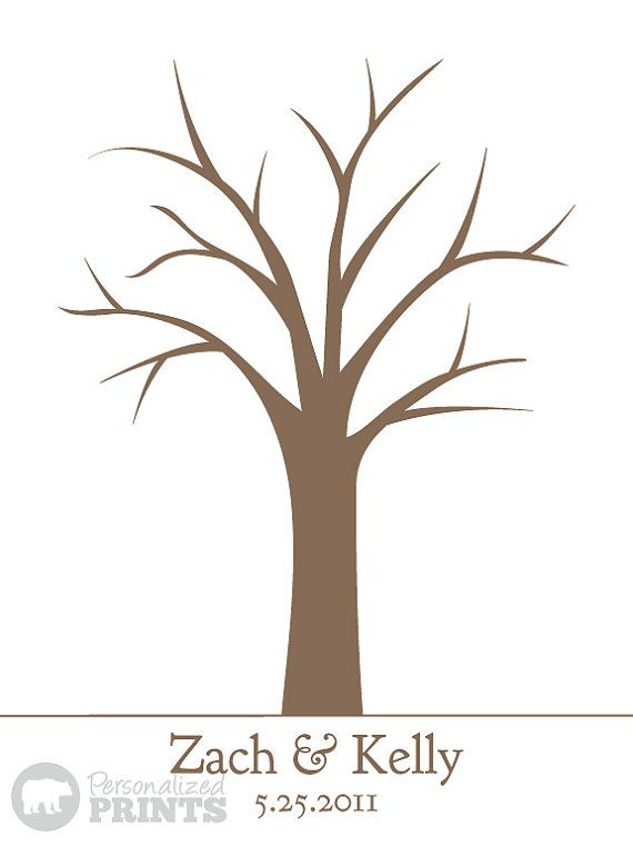 thumbprint wedding tree print 18x24 150 by personalizedprints