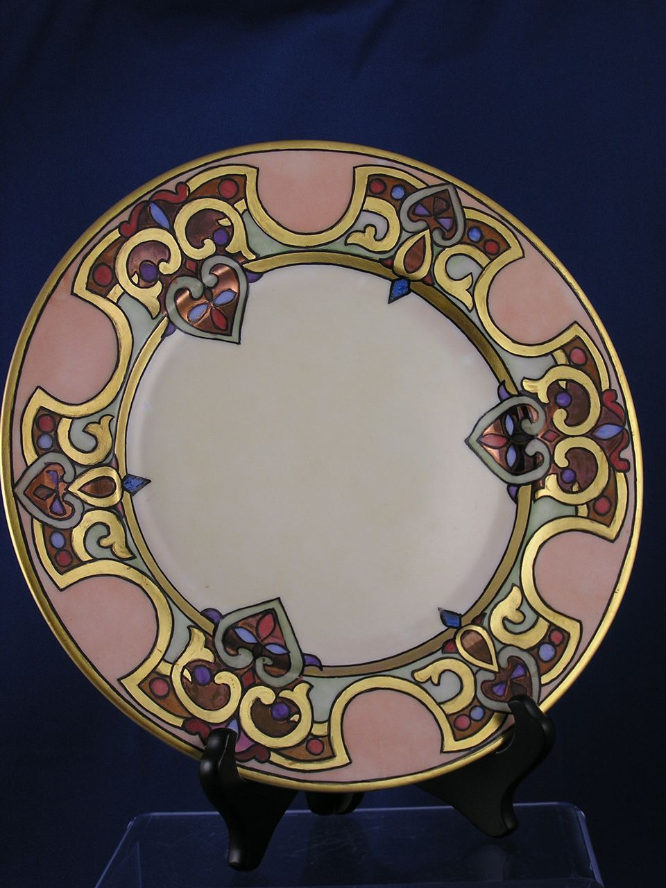 "Hutschenreuther Bavaria Art Nouveau plate (signed ""A. Hering"" c.1920-1945)"