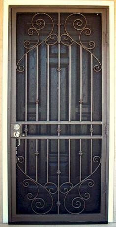 7 Modelos De Casas De Campo Bien Sencillas Protecciones De Puertas Puertas De Acero Puertas De Hierro