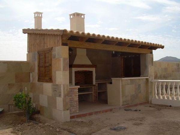 Barbacoa jean pinterest parcela asador y jard n - Casetas de exterior ...