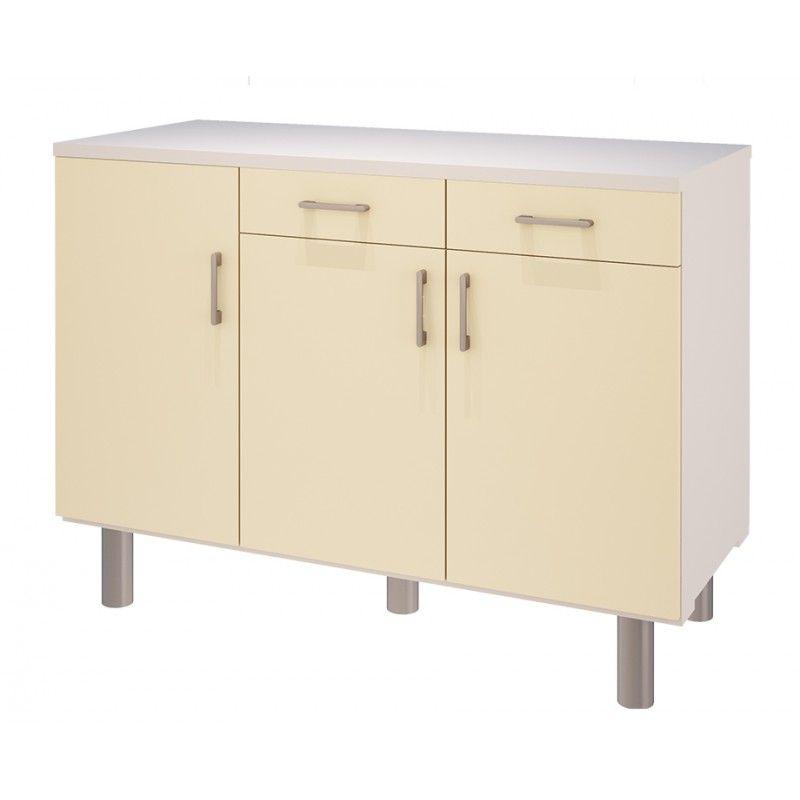 meuble bas de cuisine 3 portes