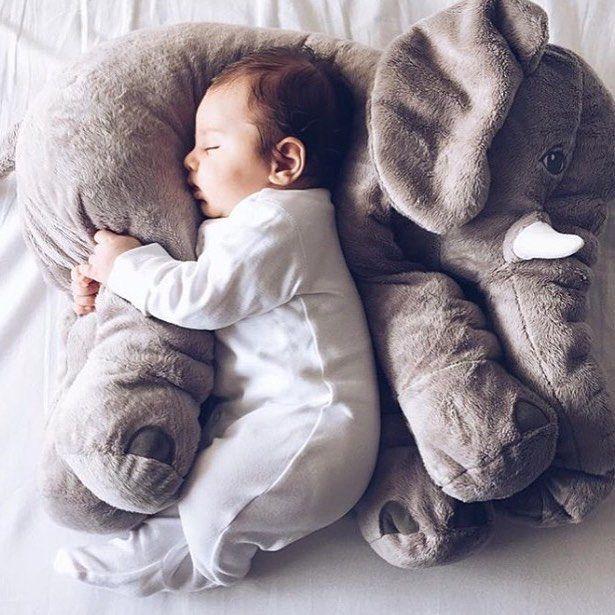 Isartfulfairtale Babies Elephant Plush Pillow Kids