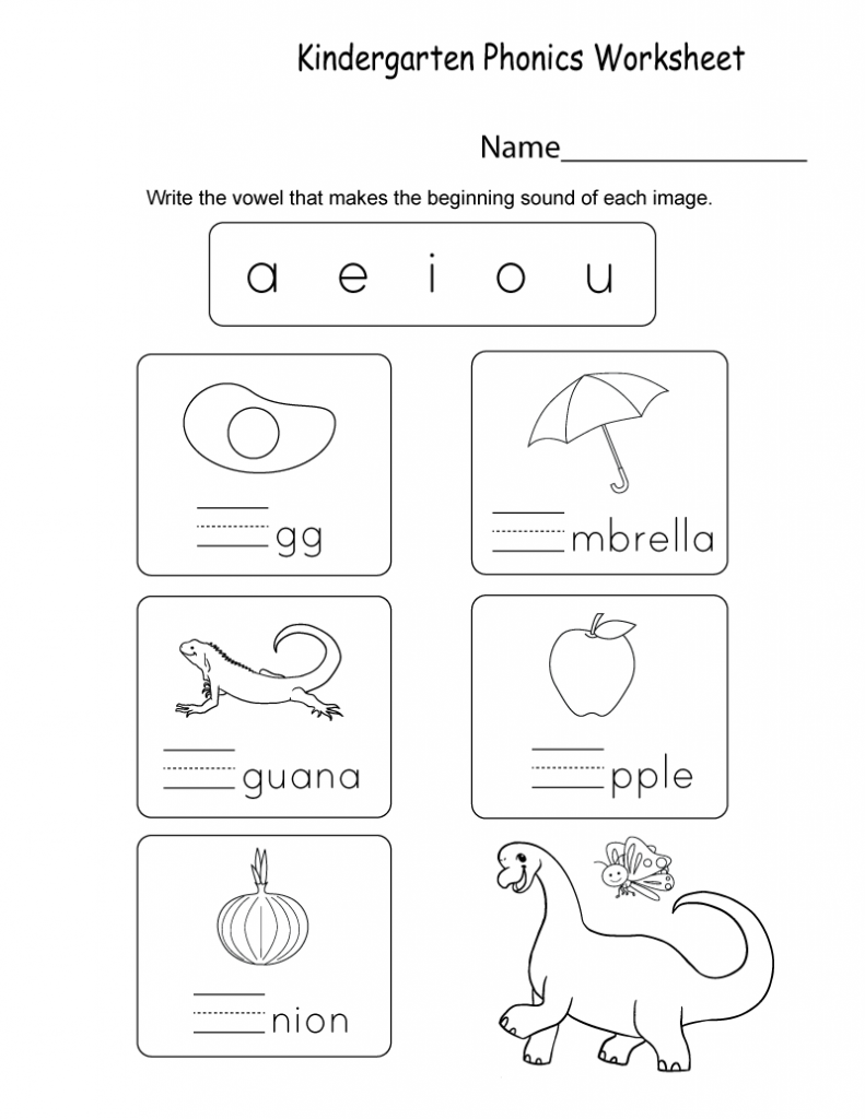 Kindergarten Phonics   Phonics worksheets, Phonics ...