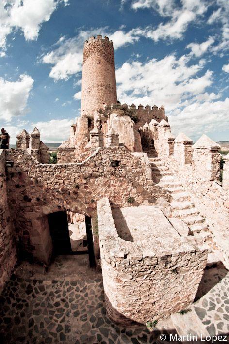 Castillo de Almansa. El mirador hacia el Levante.