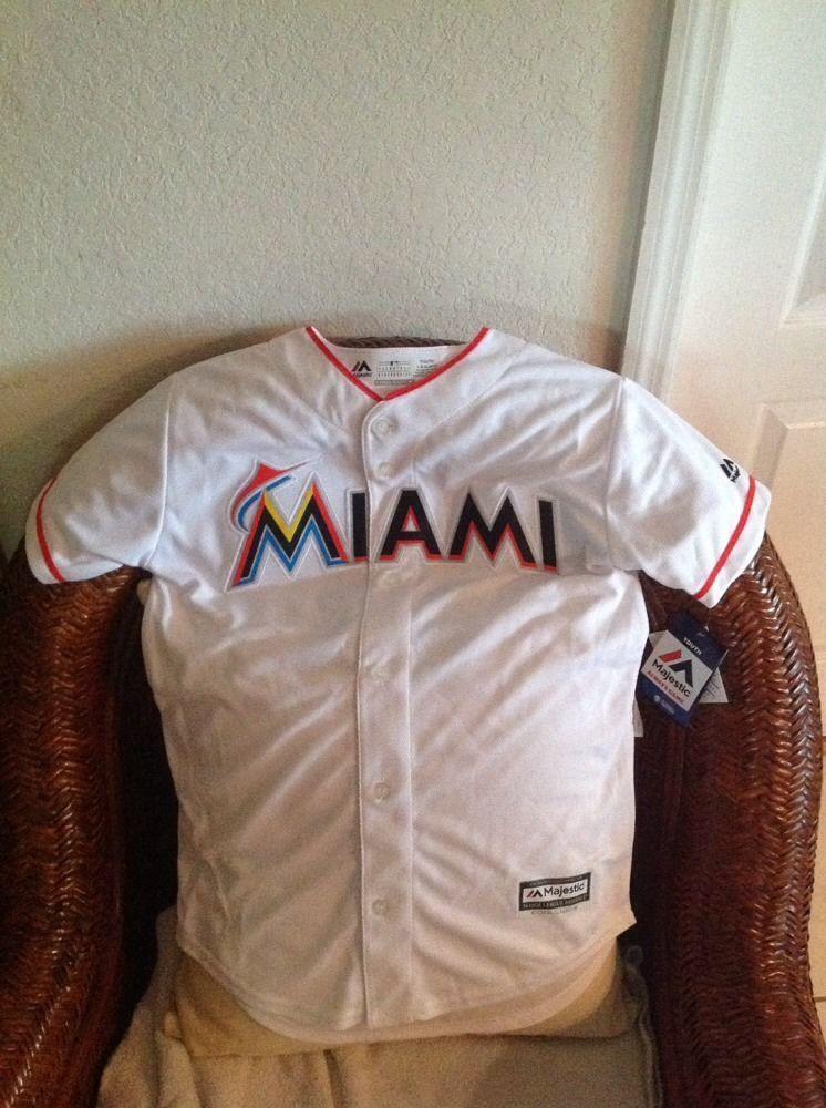 best cheap 1d39c 4329c MiAMi MARLINS MAJESTIC ICHIRO SUZUKI #51 MLB WHITE JERSEY ...