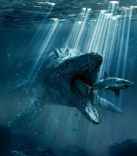 "Mosasaurus ""breakfast"" 