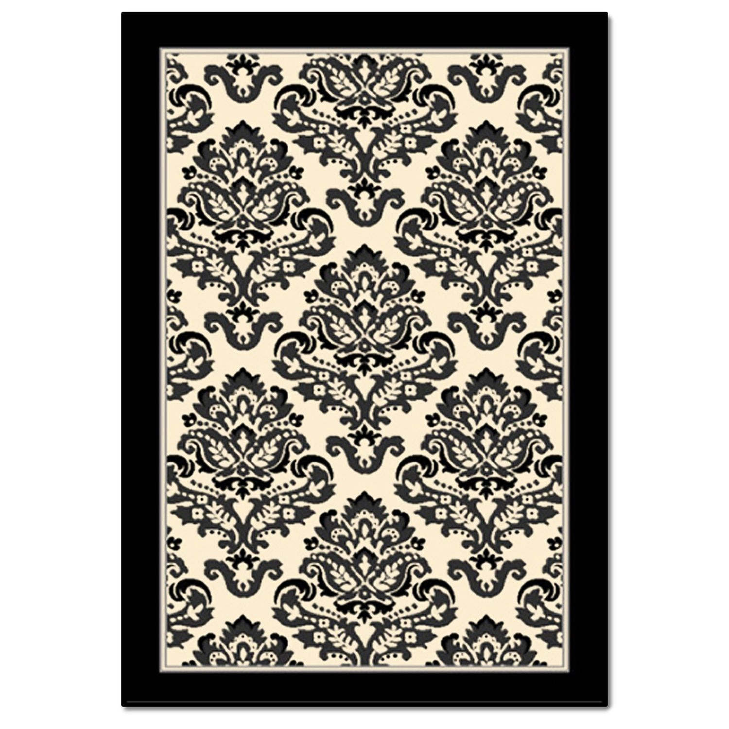 Terra Clementine 5' x 8' Area Rug Black and White