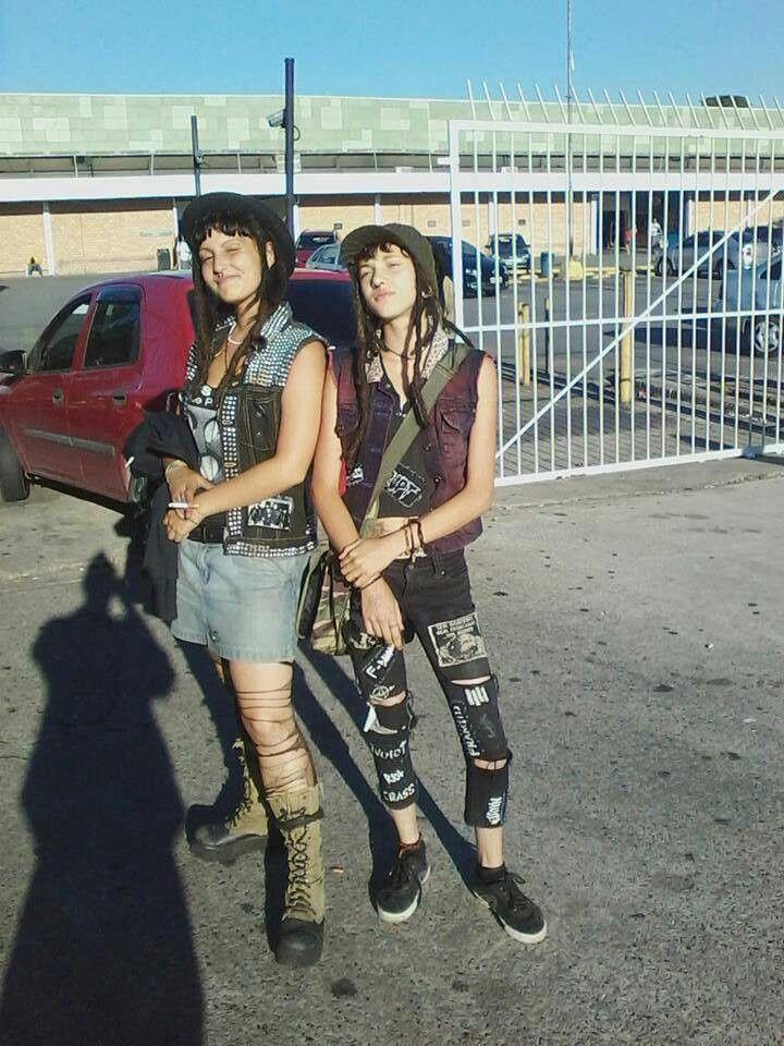 Gutter punk style dresses
