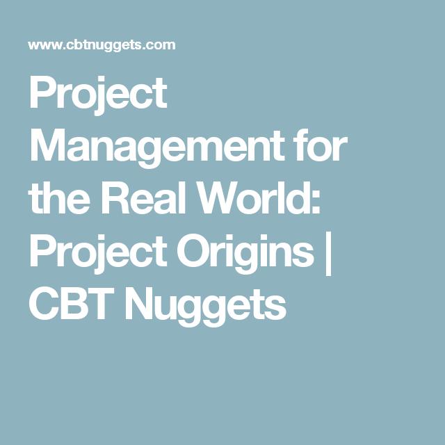 cbt nuggets project management