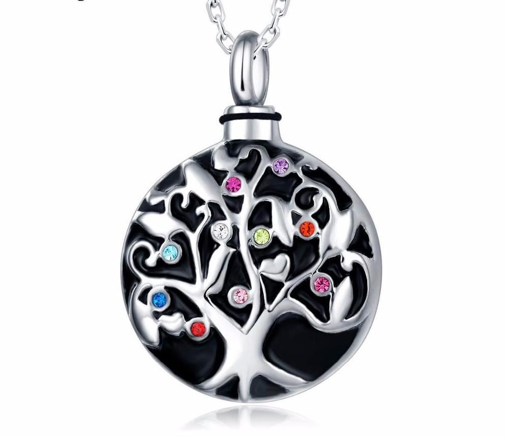 Family tree urn pendant for cremation ashes cremation ashes urn family tree urn pendant for cremation ashes mozeypictures Choice Image