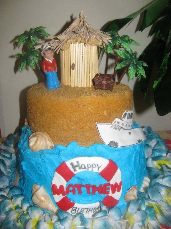 Gilligan S Island Cake Island Cake Birthday Parties
