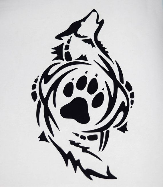 5d85bcba7 Tribal Wolf Vinyl Decal | Products | Tribal wolf, Vinyl decals ...