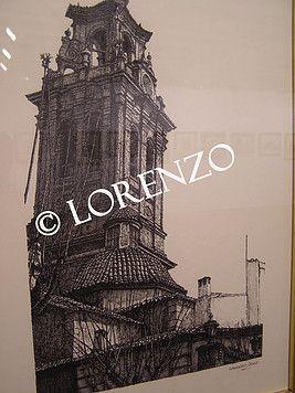 Almansa Torre De La Iglesia De La Asuncion Dibujo A Plumilla Sobre Papel Dibujo A Pluma Torres Plumas