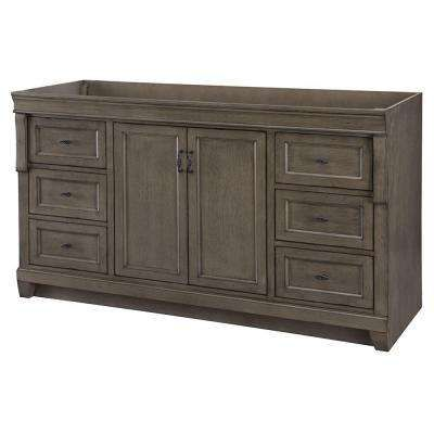 Naples 60 In W Bath Vanity Cabinet Only In Distressed Grey For