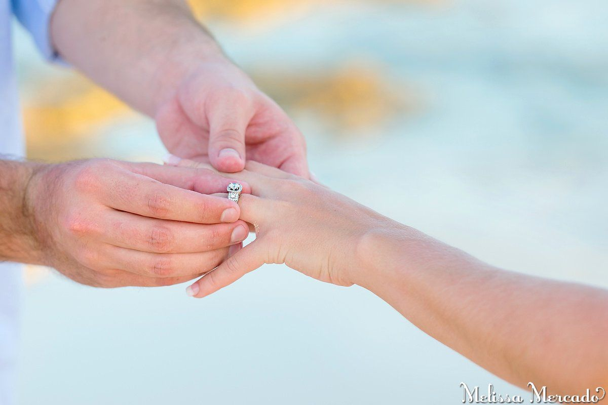Surprise Beach Proposal, gorgeous diamond circle cut engagement ring ...