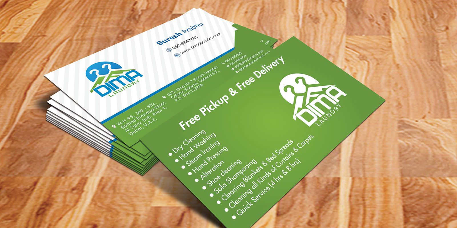 Dima laundry business card business card designs in dubai dima laundry business card magicingreecefo Choice Image