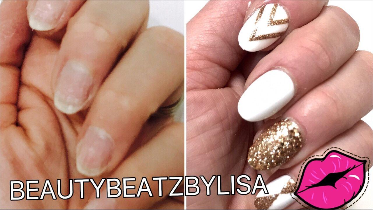 Diy At Home Easy Fake Nails Tutorial That Lasts 3 Weeks No Acrylic Fake Nails Diy Diy Nails Easy Fake Nails