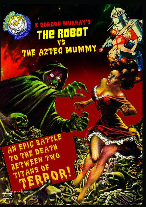 The Robot Vs The Aztec Mummy DVD-R (1958) Starring Ramon Gay; Directed by Rafael Portillo; Starring Rosa Arenas & Crox Alvarado; Apprehensive Films $12.98 on OLDIES.com
