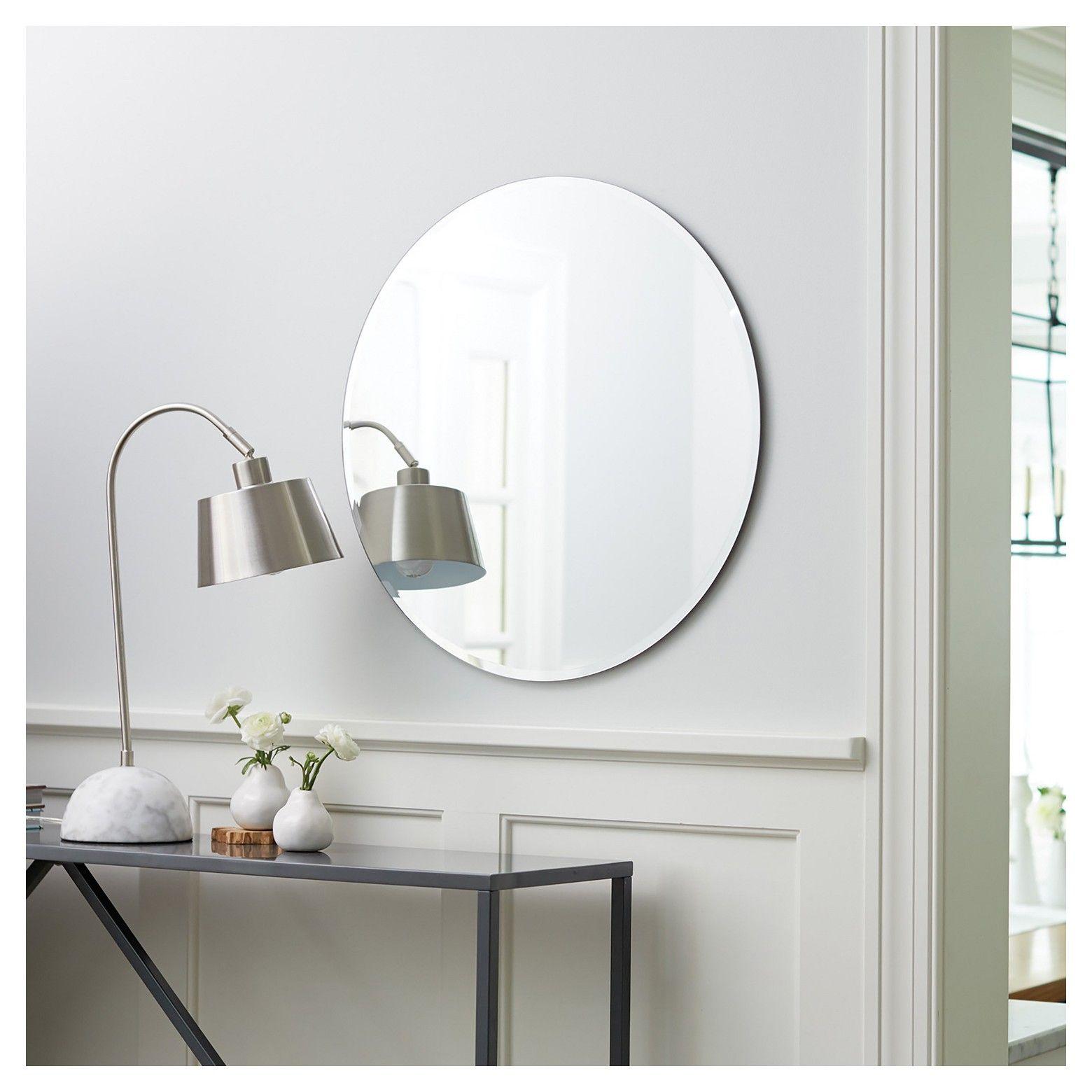 Round Frameless Decorative Wall Mirror Threshold Clear