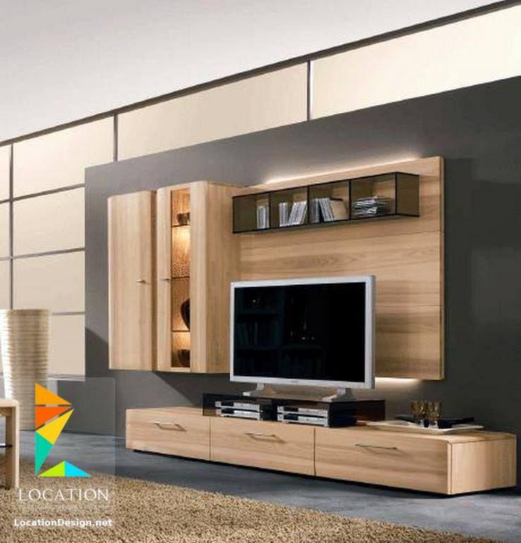 كولكشن صور ديكورات مكتبات و ارفف مودرن لشاشات البلازما 2017 2018 Tv Showcase Design Contemporary Tv Units Living Hall Design