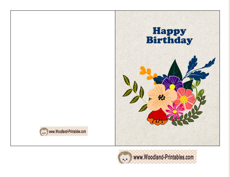 Happy birthday card featuring fox hedgehog and owl free on this page you will find some super cute free printable woodland birthday cards that you can print using your home printer bookmarktalkfo Image collections