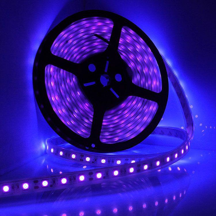Led uv ultraviolet 395nm 5050 smd blacklight strip led lights led uv ultraviolet 395nm 5050 smd blacklight strip led lights mozeypictures Choice Image