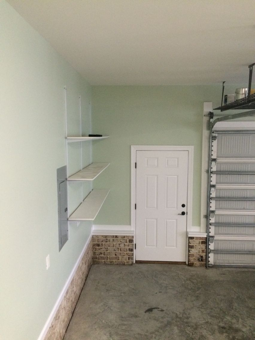 Benjamin Moore Hollingsworth Green In Our Garage Organization Organizing Colorful Wallpaper Paint
