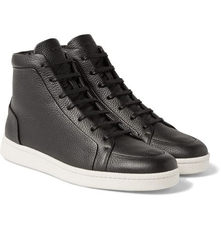 classic style best sell reputable site BALENCIAGA Full-Grain Leather High-Top Sneakers ...