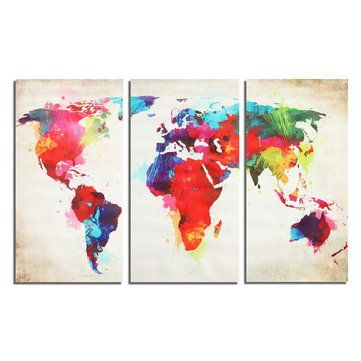 3pcs colorful world map frameless canvas print mural painting home 3pcs colorful world map frameless canvas print mural painting home decoration price 1198 gumiabroncs Gallery