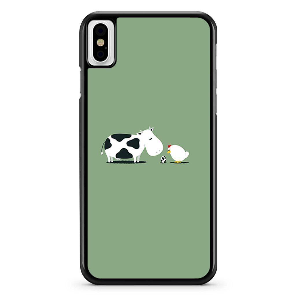 Capa cute cow chicken animal 1 iphone x xs xr xs max