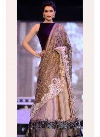 Kmozi Beige Color Designer Lehenga Choli..  http://www.kmozi.com/bollywood-replica/online-shopping-bollywood-actress-lehenga-choli/kmozi-beige-color-designer-lehenga-choli-1277