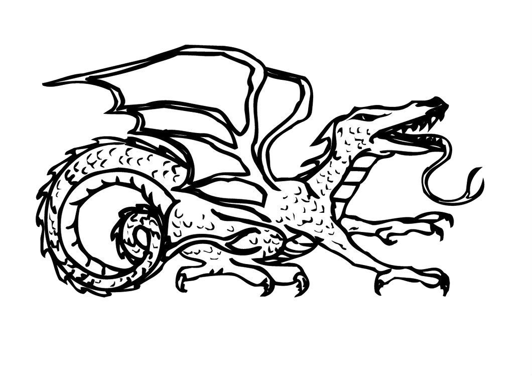 This Dragon Learn To Walk Coloring Pages For Kids #cp7 ...