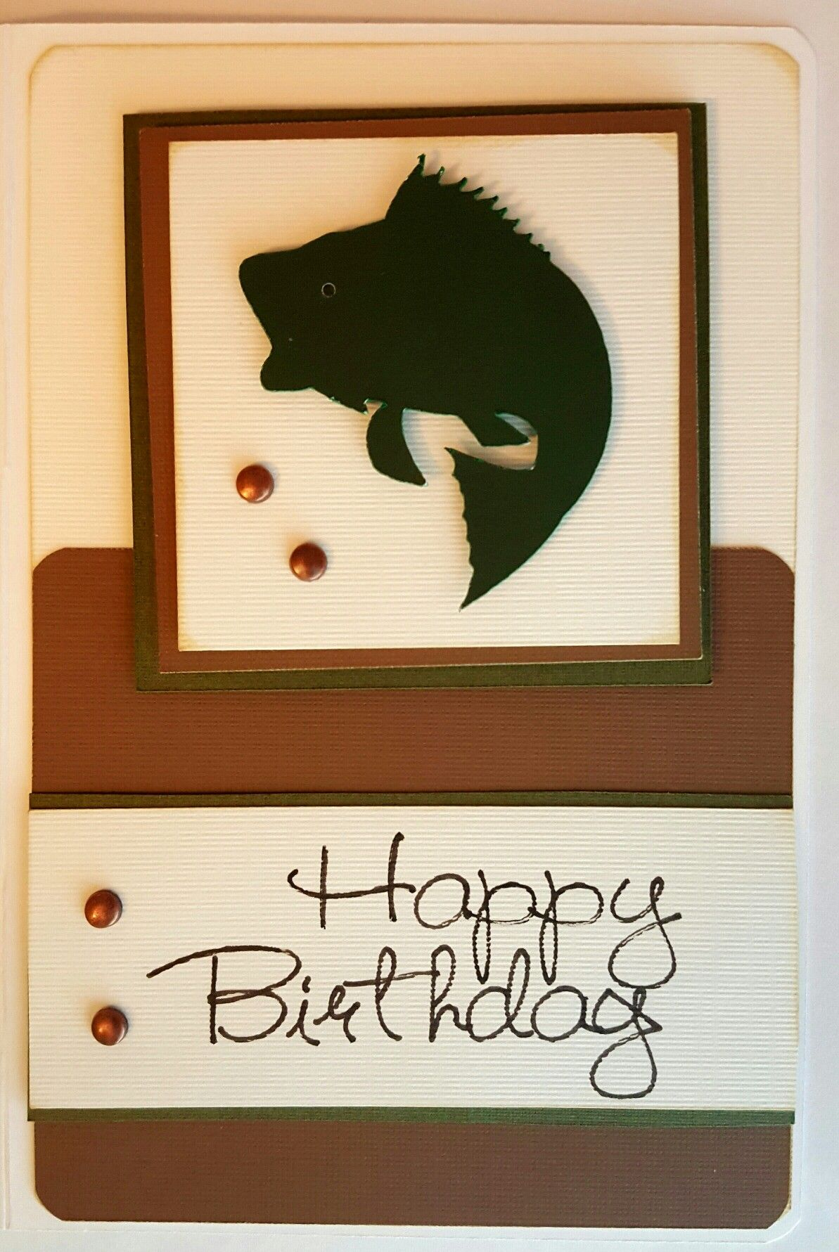 Cricut Birthday Card With Bass Fish On Front For The Men Cricut Birthday Fishing Birthday Cards Cricut Birthday Cards