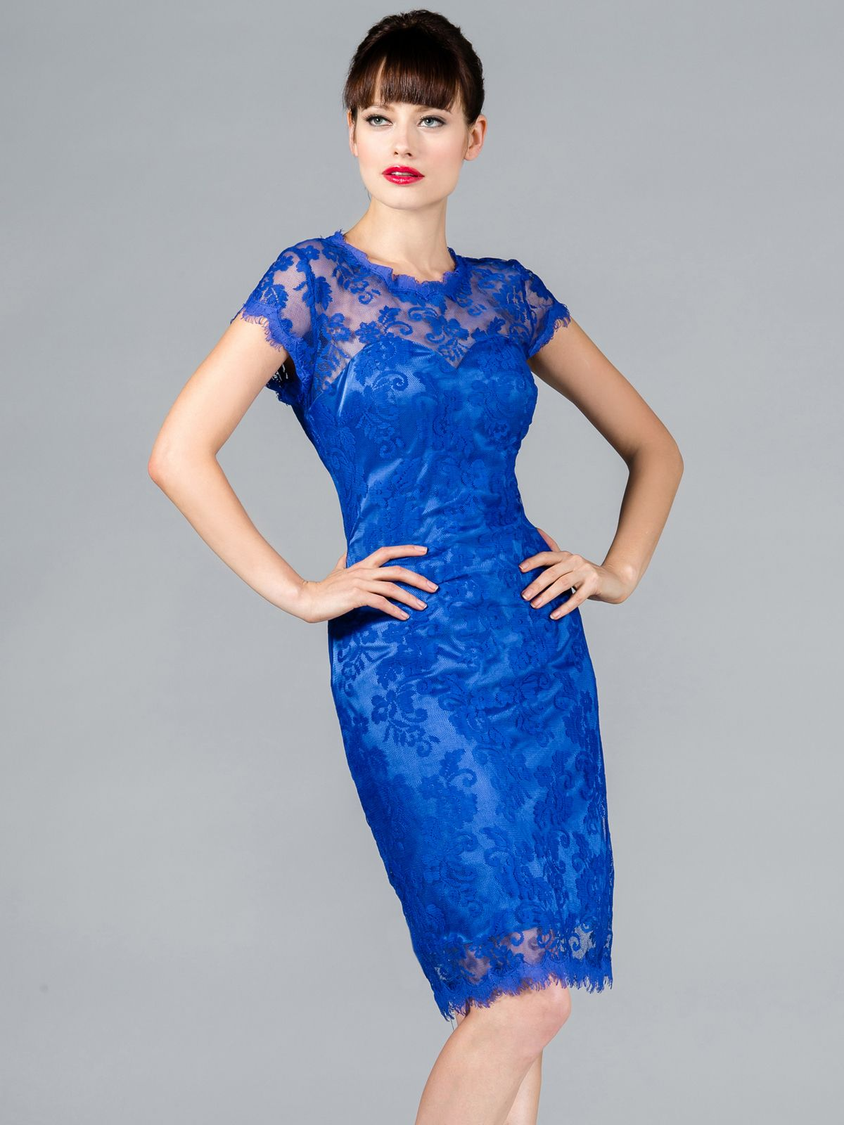 Stunning Lace Evening Dresses : Royal Blue Vintage Lace Cocktail ...