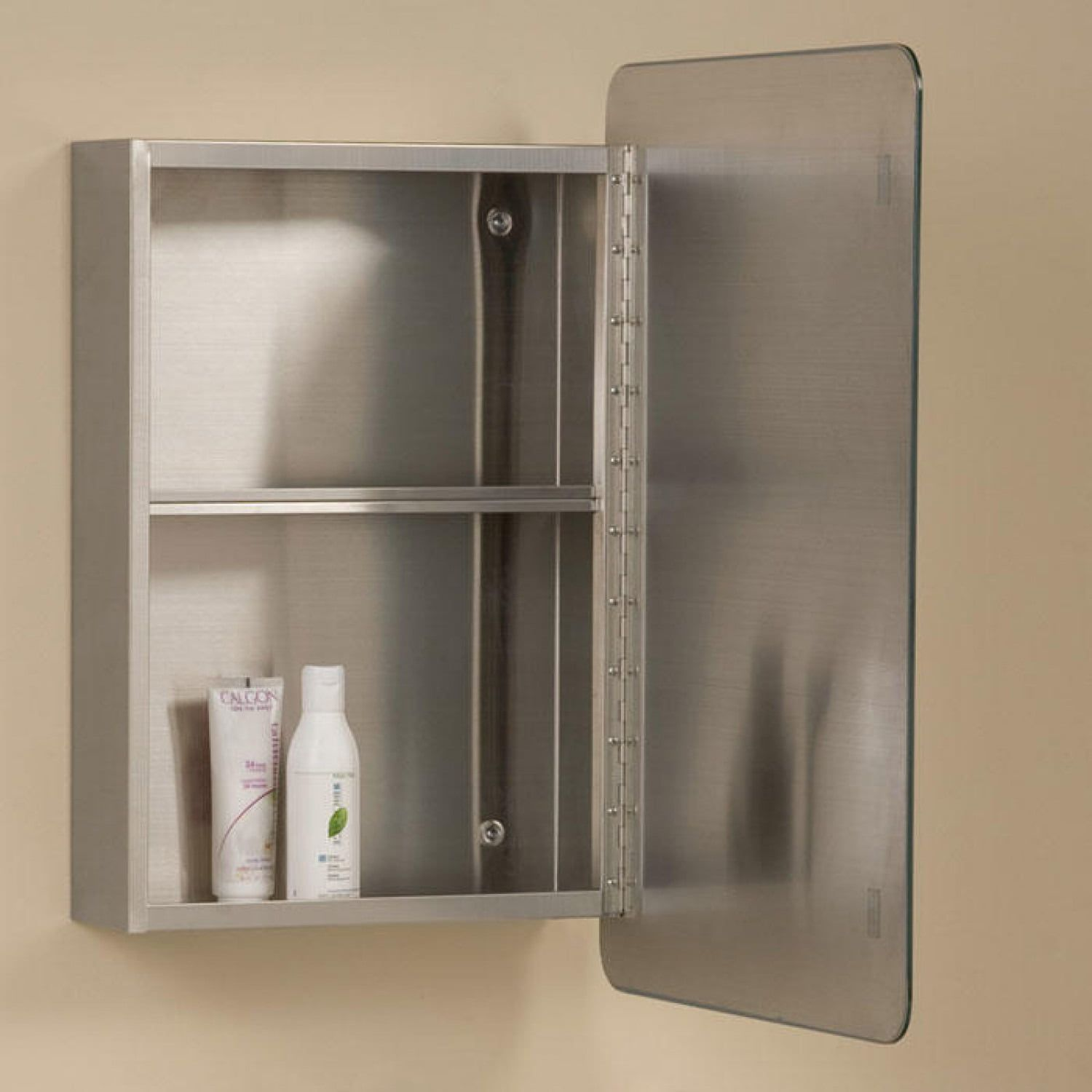 Moderno Reversible Stainless Steel Medicine Cabinet Medicine Cabinets Bath Bathroom Medicine Cabinet Medicine Cabinet With Mirror Closet Organizing Systems