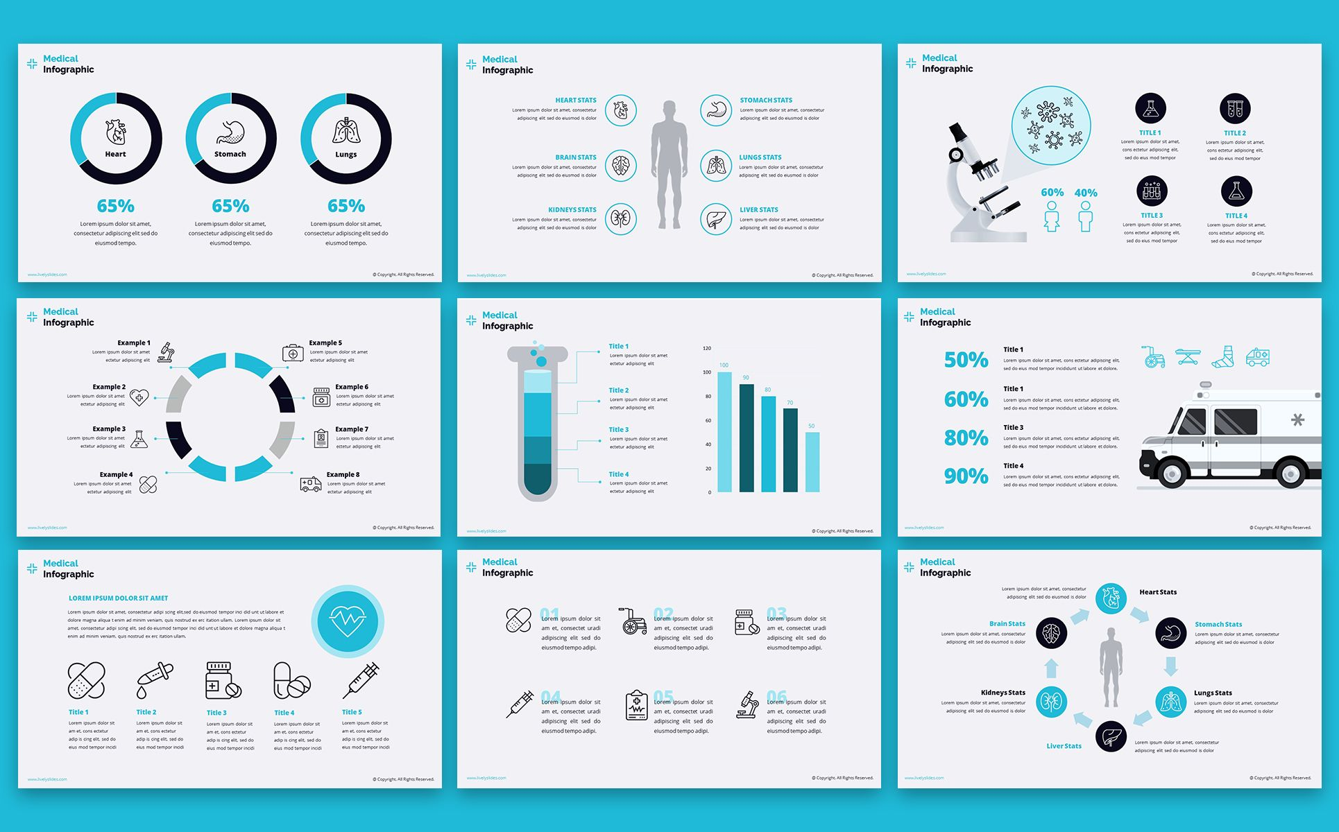 Lively Healthcare Ppt Slides Powerpoint Template Website Design