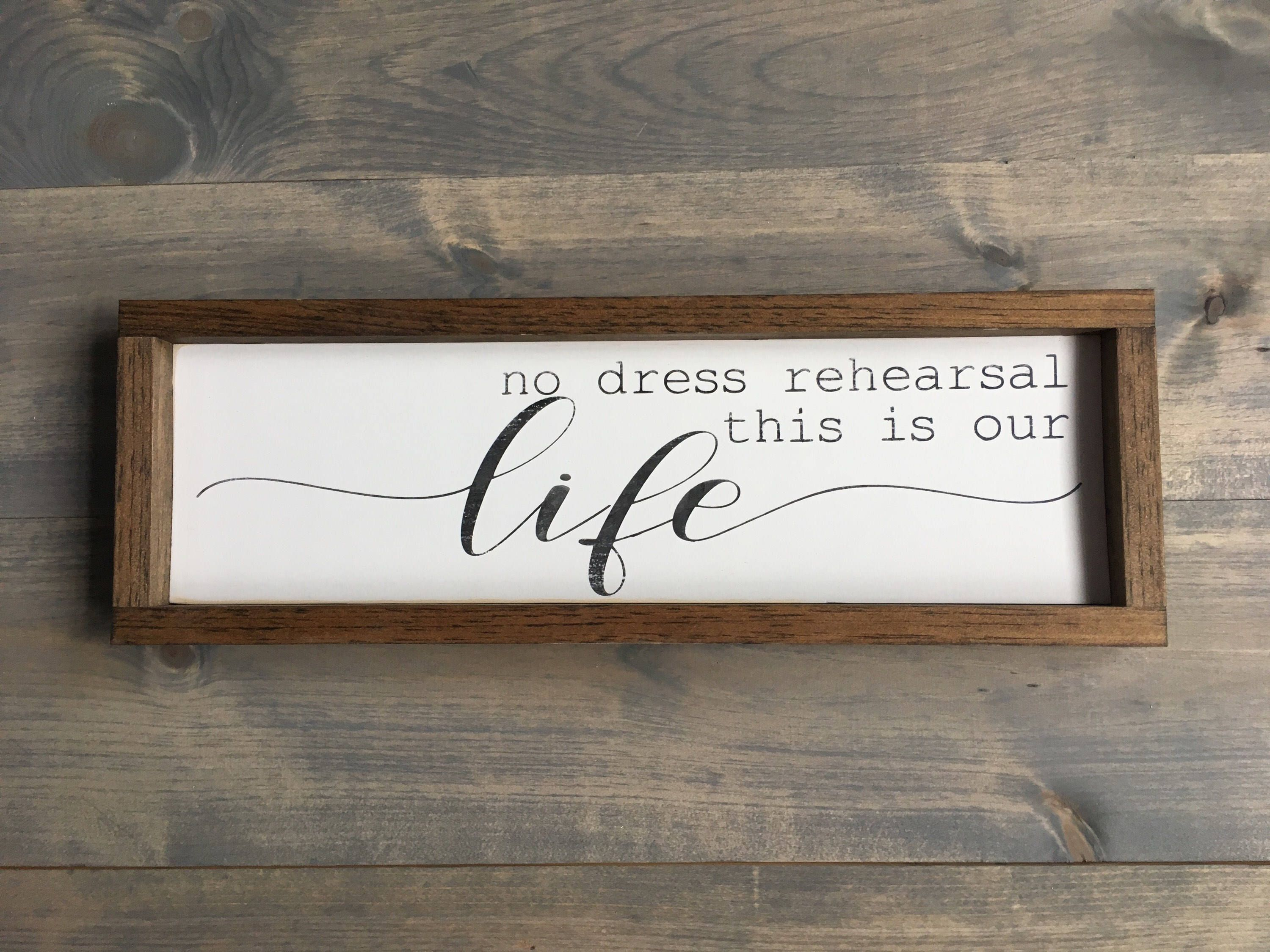 No dress rehearsal this is our life tragically hip