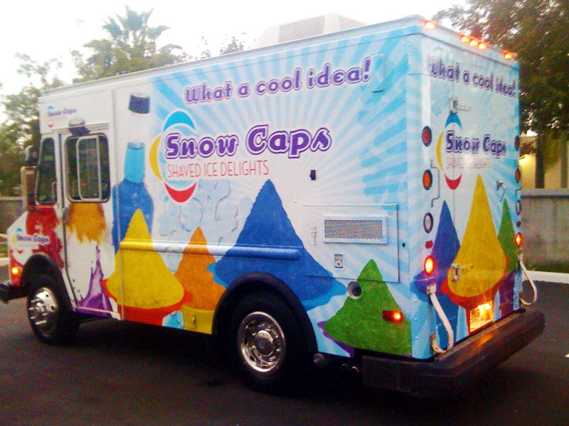 Hey its snow caps food trucks pinterest snow